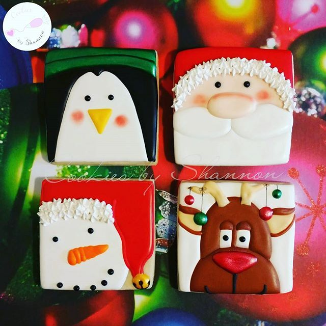 Some of my most popular Christmas cookies! Care to purchase singles? Email me to claim yours. $6 each! Cookiesbyshannon@yahoo.com #santaclaus #snowman #reindeer #penguin #decoratedsugarcookies #decoratedcookies #cookiesbyshannon #cookies #houstonbaker #houston #thewoodlands #springtx #magnoliatx