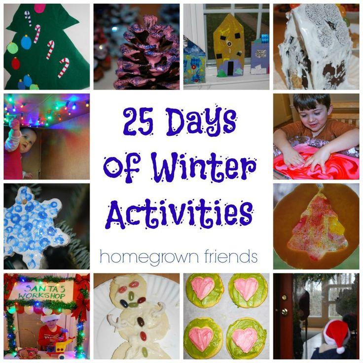 25 Days of Winter Activities for Children (Homegrown Friends)