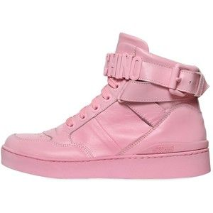Moschino Women 35mm Leather High Top Sneakers
