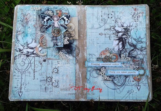 EPOKA  PAPIEROWA: Wpis do art journala - z nowymi papierami 13arts
