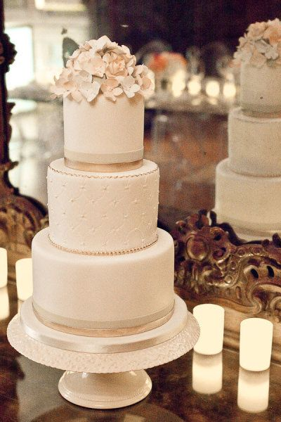 """Fan of the sugar flowers on top.  Also like the taller tiers (cake looks less """"stout"""")"""