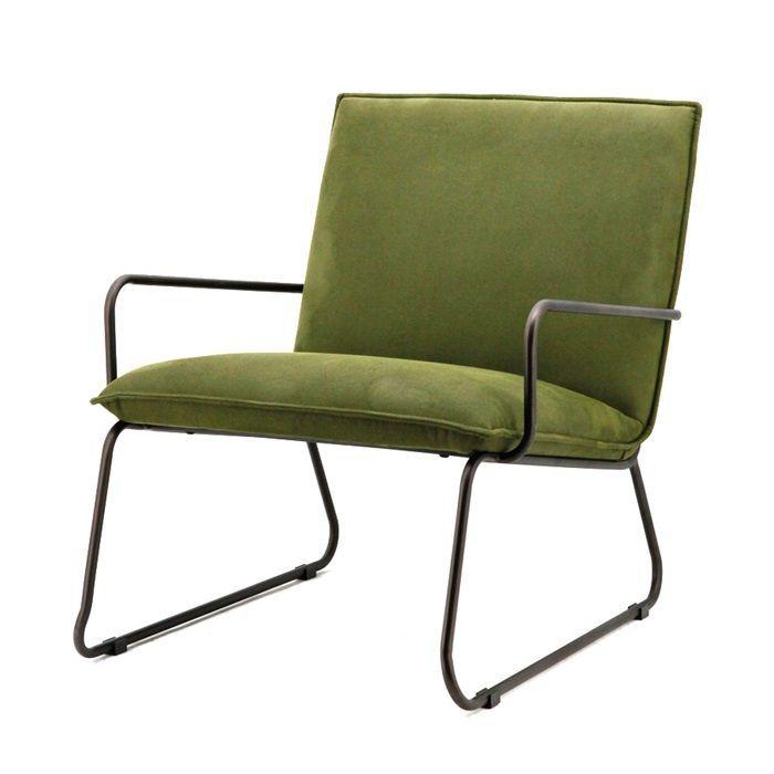 Geef uw interieur een industriële look met fauteuil Delta in de kleur groen.