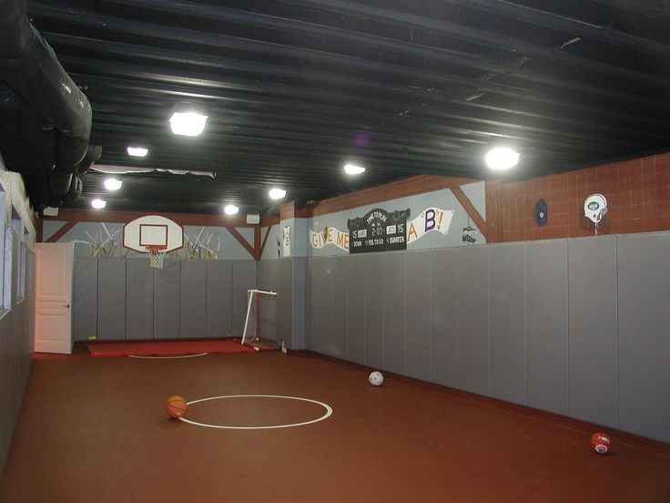17 best images about unfinished basement ideas on for Basement sport court