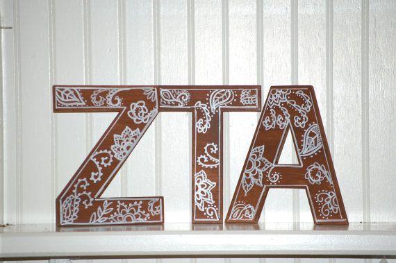 Wooden Greek Letters