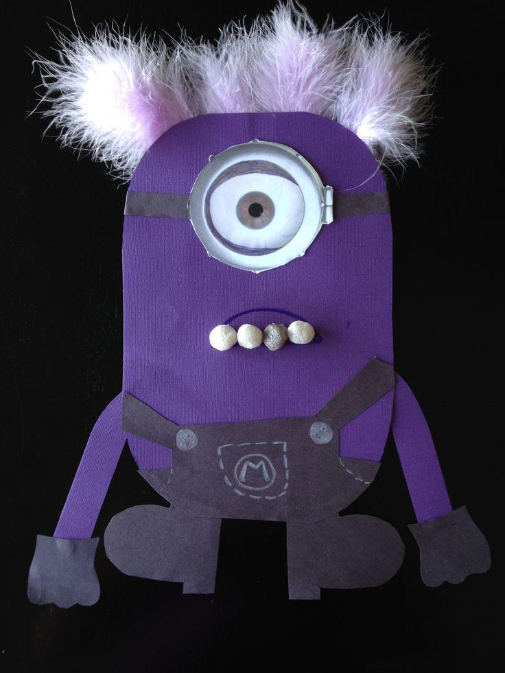 Despicable Me evil purple minion craft by me!