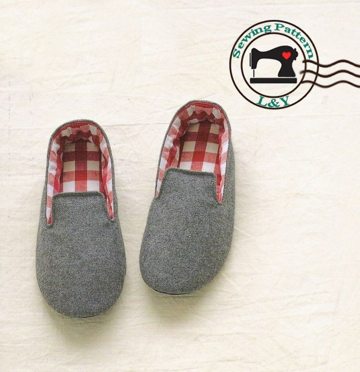 Woman Indoor Shoes/House Slippers PDF Sewing Pattern, Size 5-11. $5.00