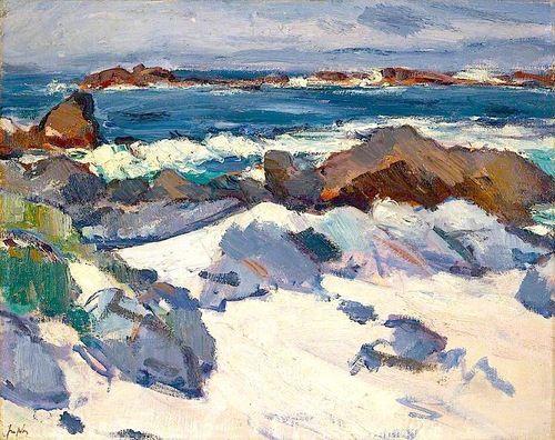 bofransson:  A Rocky Shore, Iona by Samuel John Peploe
