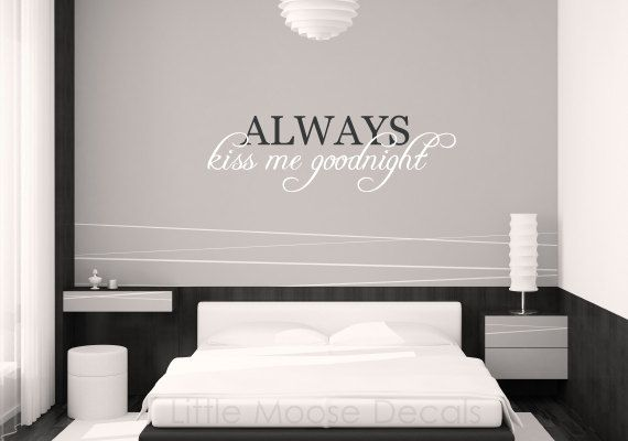 Wall Decal Vinyl Letters Quote Bedroom  by LittleMooseDecals