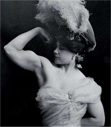Charmion was a famous trapeze artist/strongwoman back in the late 1800's/early 1900's. She had an incredible physique with a lot of muscle. This was also way before steroids.