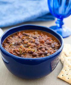 Slow Cooker Black Bean Lamb Chili via @Angie McGowan (Eclectic Recipes)