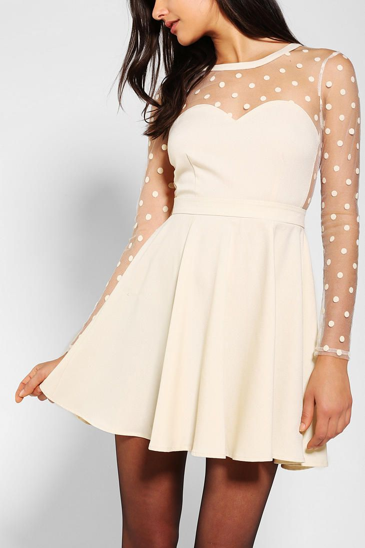 $79 in black! Coincidence & Chance Polka Dot Mesh Dress @Urban Outfitters