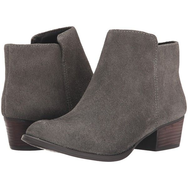 Jessica Simpson Delaine Women's Boots, Gray ($88) ❤ liked on Polyvore featuring shoes, boots, ankle boots, grey, slip on boots, short grey boots, short suede boots and suede ankle boots
