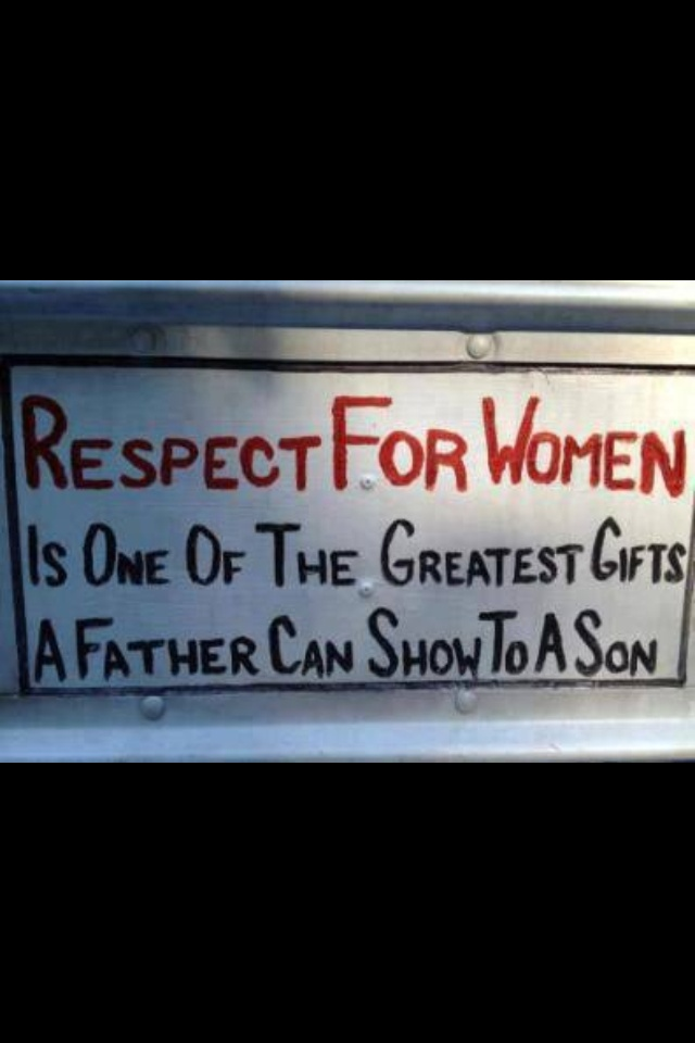 Real men respect women! RESPECT!!! NOT LUST or OOGLE!!