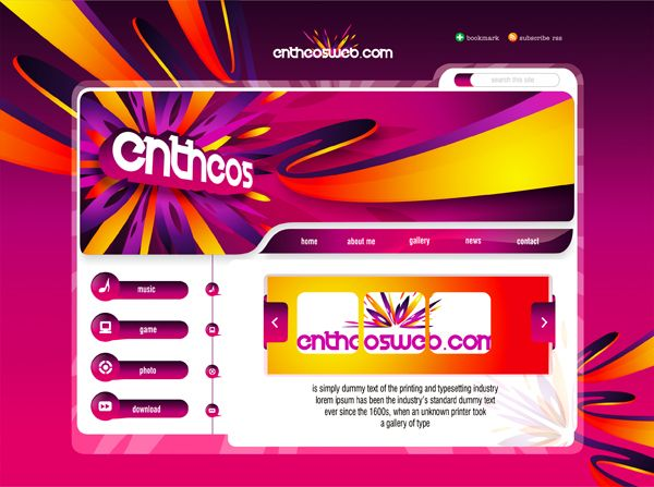 Website Design with Corel Draw X5