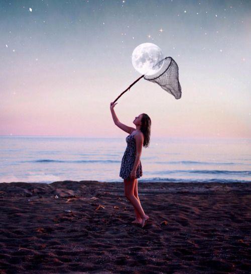 Ik kan de maan vangen. #Fotoshop #Love