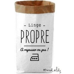 """Paper Bag """" Linge propre"""""""