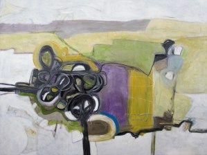 "Finally peaceful 36"" x 48"" oil on canvas $2100 by Marlene Lowden"