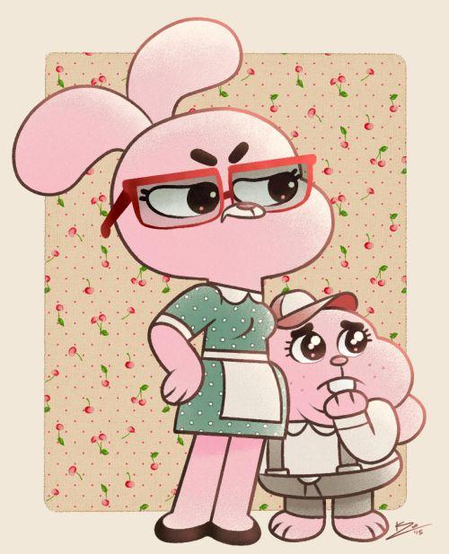 Mama Jojo & her li'l Richard.