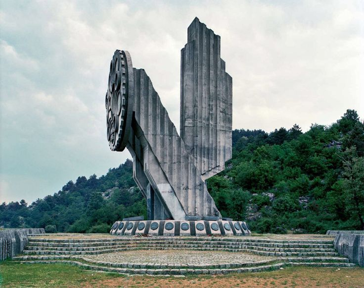 """Nobody knows to whoom or to what this monument in the Nicsic (Nikshich), Montenegro was dedicated. Today it is just another slab of concrete that remained from the era of the Soviet Yugoslavia.""  Thanks to paradoxoff.com"