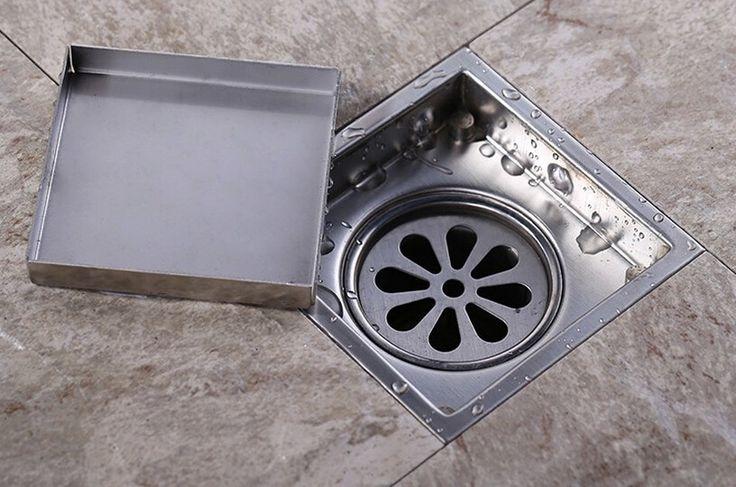 Envío gratis de inserción del azulejo del piso plaza rejillas de baño ducha Drain 110 x 110 o 150 x 150 mm, 304 de acero inoxidable en Desagües de Mejoras para el Hogar en AliExpress.com | Alibaba Group