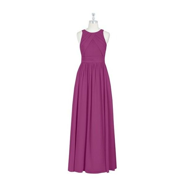 Azazie Harper Bridesmaid Dress Azazie (€105) ❤ liked on Polyvore featuring dresses, bridesmaid dresses, purple chiffon dress, night out dresses, going out dresses and bridal dresses