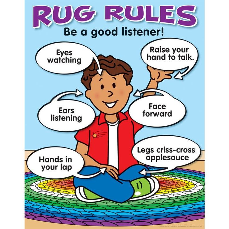 Rug Rules Poster English Spanish More