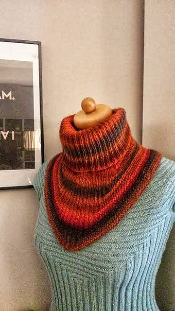 """Another """"Treppenviertel Cowl"""", pattern via ravelry 2 x drops delight no 13"""