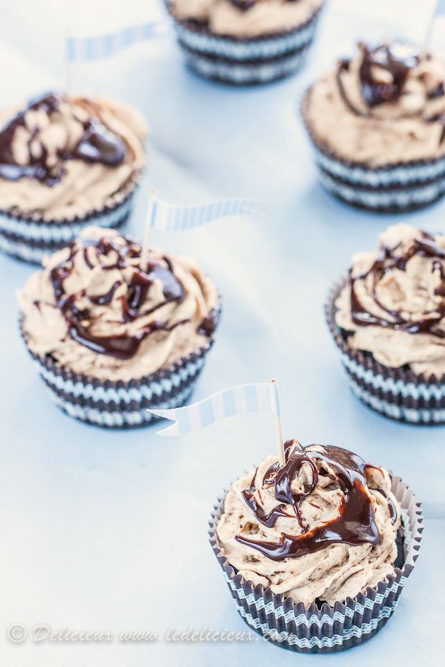 Cookies and Cream Cheesecake Cupcakes | Delicieux