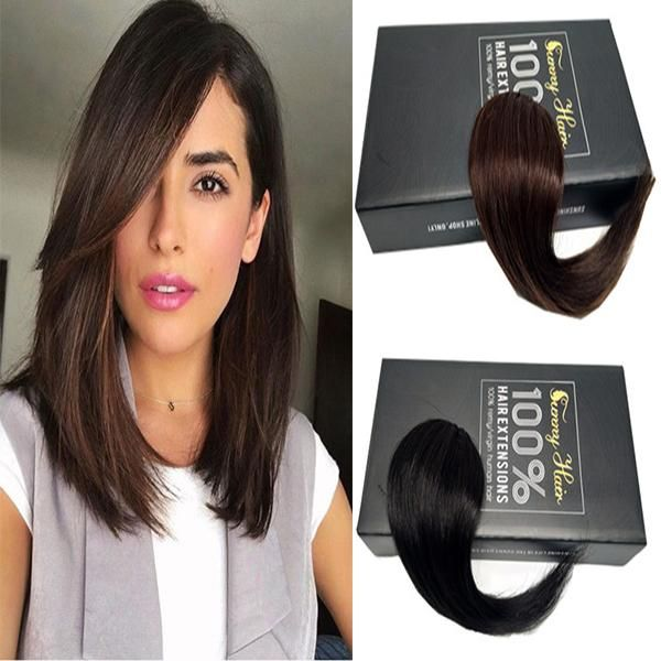 Side Swept Fringe Bangs Clip in Hair Extensions One Piece Striaght Hairpiece Accessorie