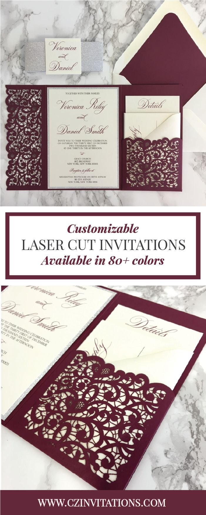 43 Best Pocket Invitations Images On Pinterest Brunch Wedding