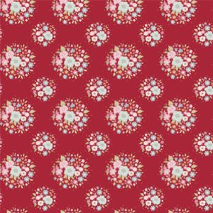 Tilda Sweetheart Fabric Thula Carmine Red
