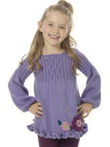 Caron International | Free Simply Soft® Project | Girl's Smocked Tunic