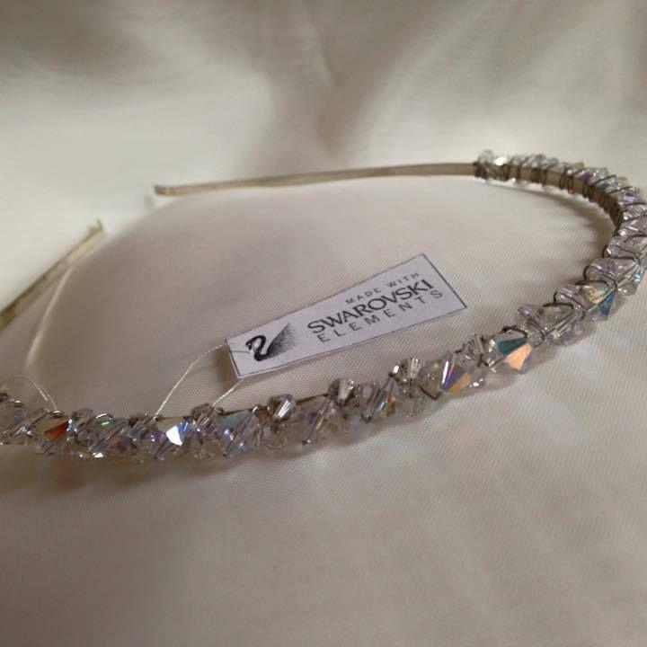 Swarovski crystal bridal hair band.