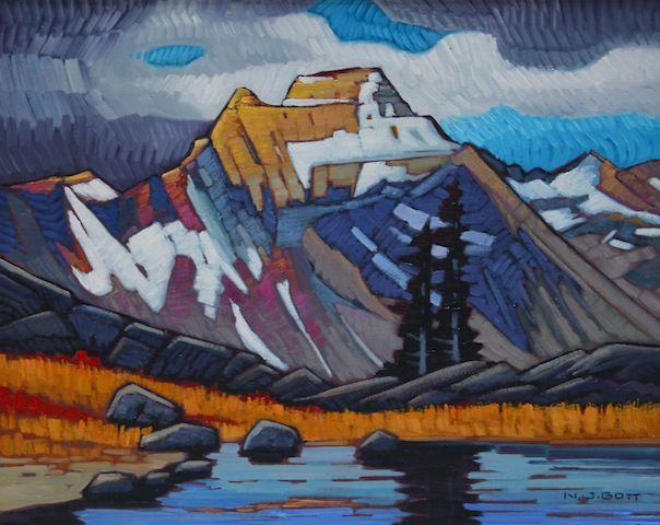 "'Mount Peter' | 16"" x 20"" | Oil on Canvas | Artist Nicholas Bott"