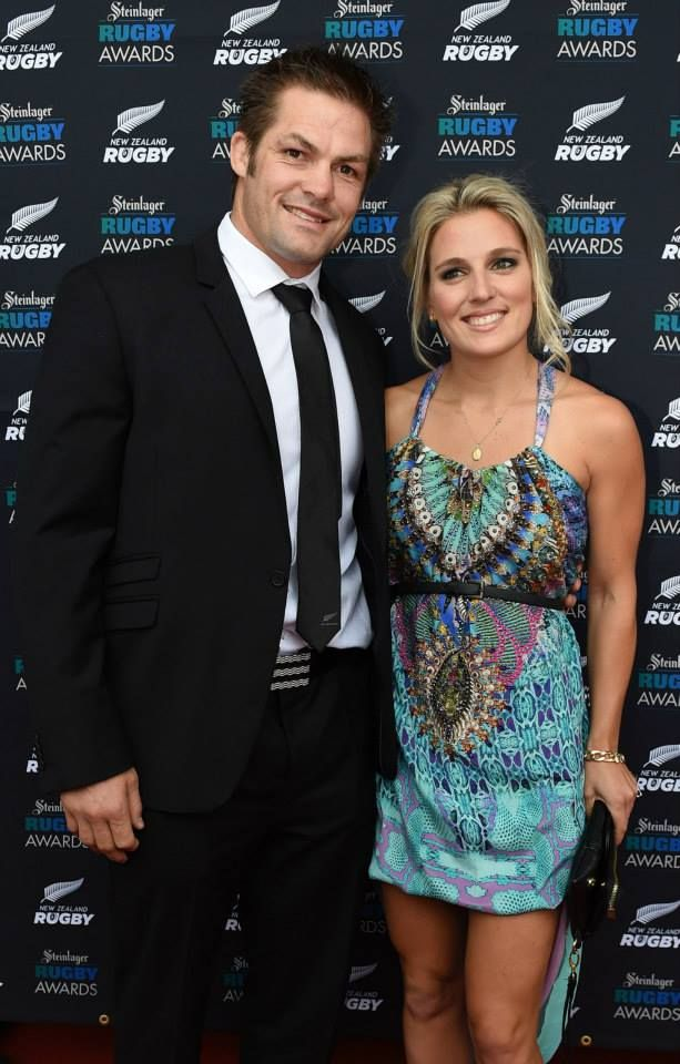 Richie McCaw and Gemma Flynn arrive on the red carpet for the Steinlager Rugby Awards. .jpg