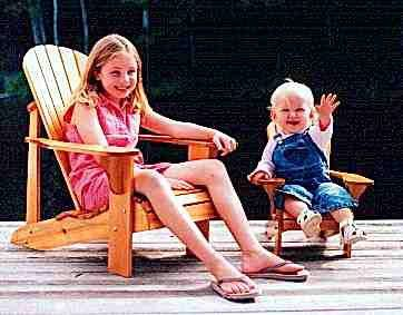 Adirondack Chair Plans The YOUTH chair is reduced from the original Adult Adirondack Chair, but constru...