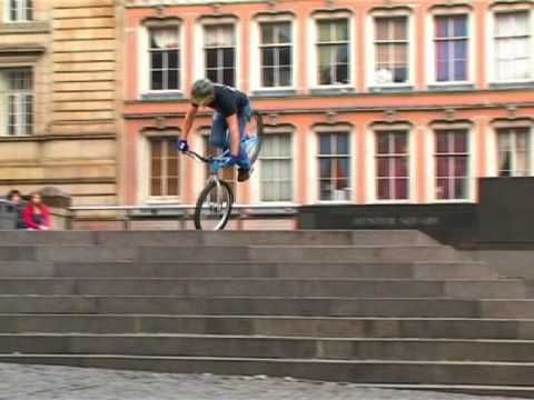 Video of rider Danny MacAskill, filmed  in and around Edinburgh by Dave Sowerby. If you think you can cycle watch this.