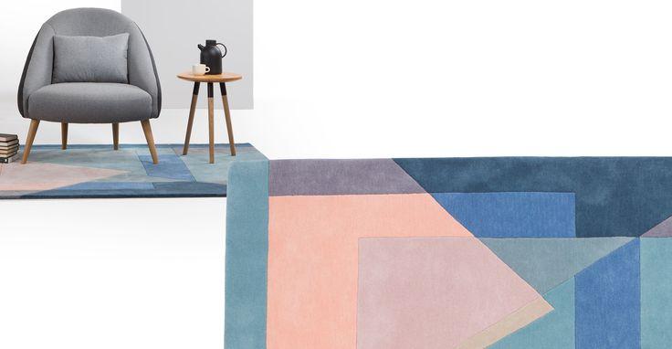 Pyramid Hand Tufted Rug 160 x 230cm, Tonal Blue, £249 at made.com