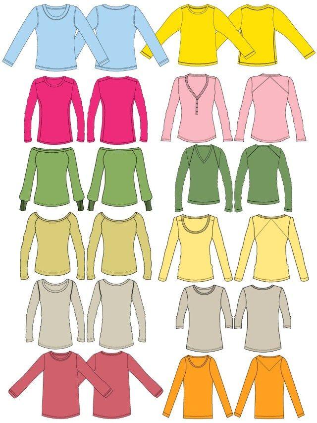 Download Women S Long Sleeve T Shirt Template Vector And Psd Pack 01 Long Sleeve Tshirt Women Shirt Template Long Sleeve Tshirt