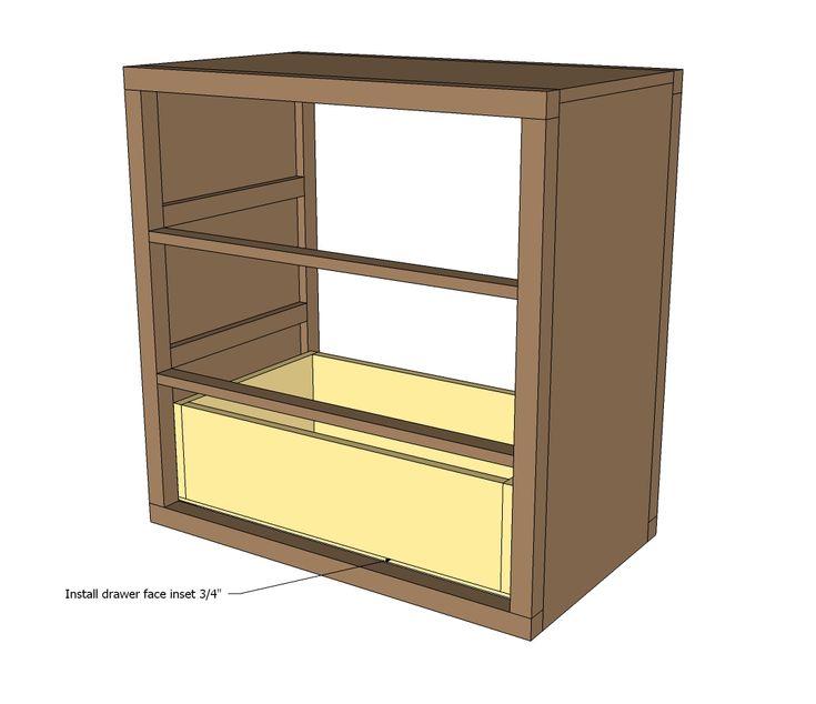 Easy Build Drawers ~ Best dresser plans images on pinterest cabinets