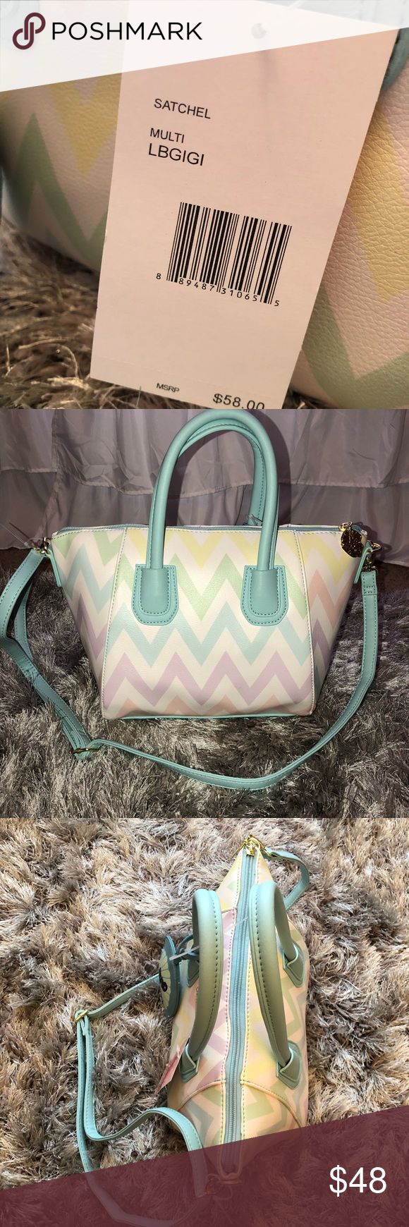 Betsey Johnson Mermaid 🧜🏼‍♀️ Chevron Purse New with tags! 13 X 7 inches Betsey Johnson Bags