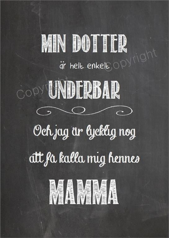 Print, Typografi, MIN DOTTER ÄR UNDERBAR, Shabby Kärlek JULKLAPP!!!