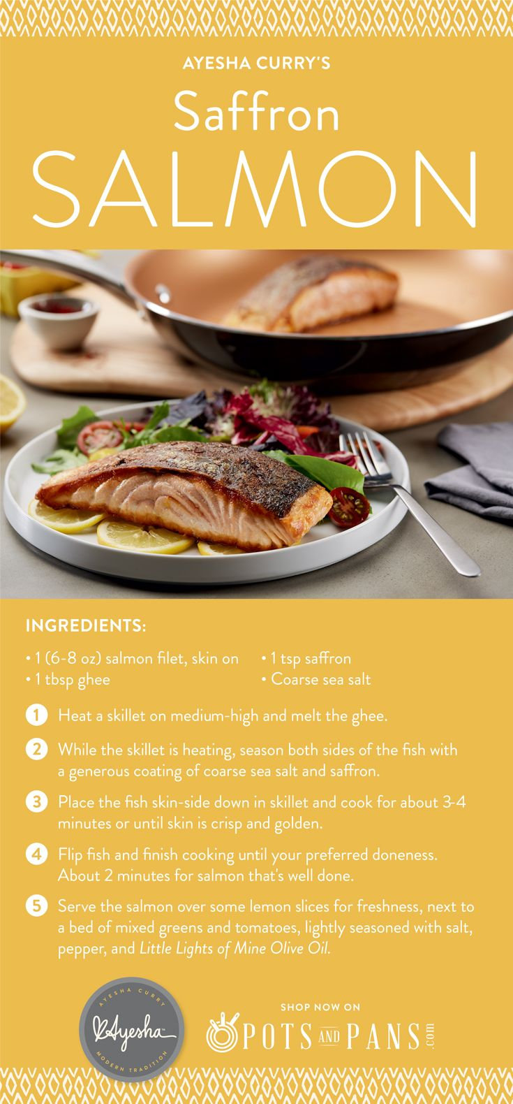 Ayesha Curry S Saffron Salmon Is The Perfect Fusion Of Flavor For A Quick And Easy Lunch T Easy Healthy Recipes Healthy Meals To Cook Healthy Recipes