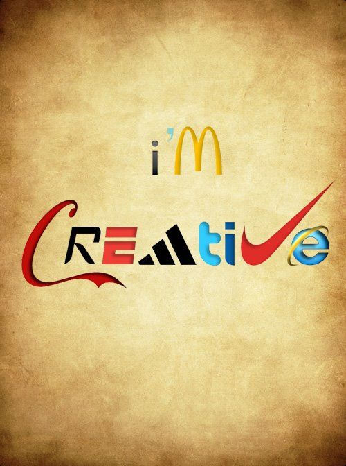 I'm Creative. Clever Typography