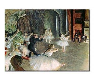 Obraz na płótnie The Rehearsal of the Ballet on Stage