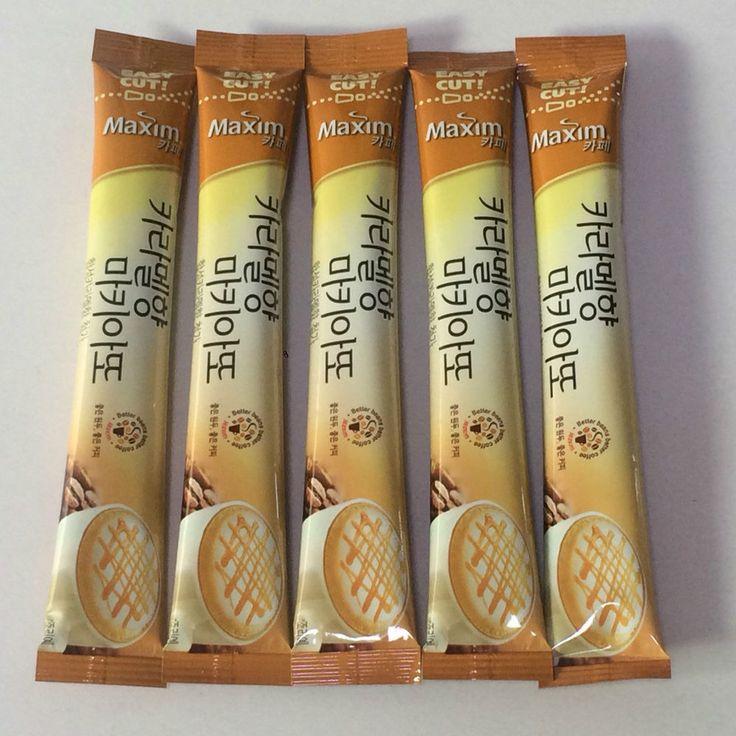 Maxim Caramel Macchiato Korean instant coffee mix 5 sticks for taste #Maxim