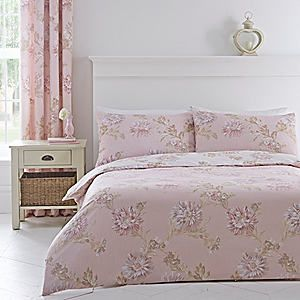 Chrysanthemum Blush Duvet Cover & Standard Pillowcase Set #kaleidoscope #bedroom