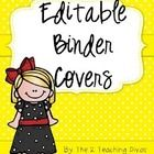 FREE!!  Editable Binder Covers for any and all of your teacher binders!  You must be able to open PowerPoint.  Please follow us and leave some feed...