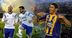 Ángel Di María hizo el gol de Argentina frente a Suiza que dio el pase a cuartos de final. Quiere volver con el jefe y Lavezzi al Rosario Central. Setiembre 29, 2014.