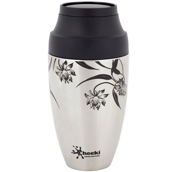 The Cheeki Coffee Mug is not only stylish, it is double wall stainless steel vacuum insulated which will keep your drink hot.